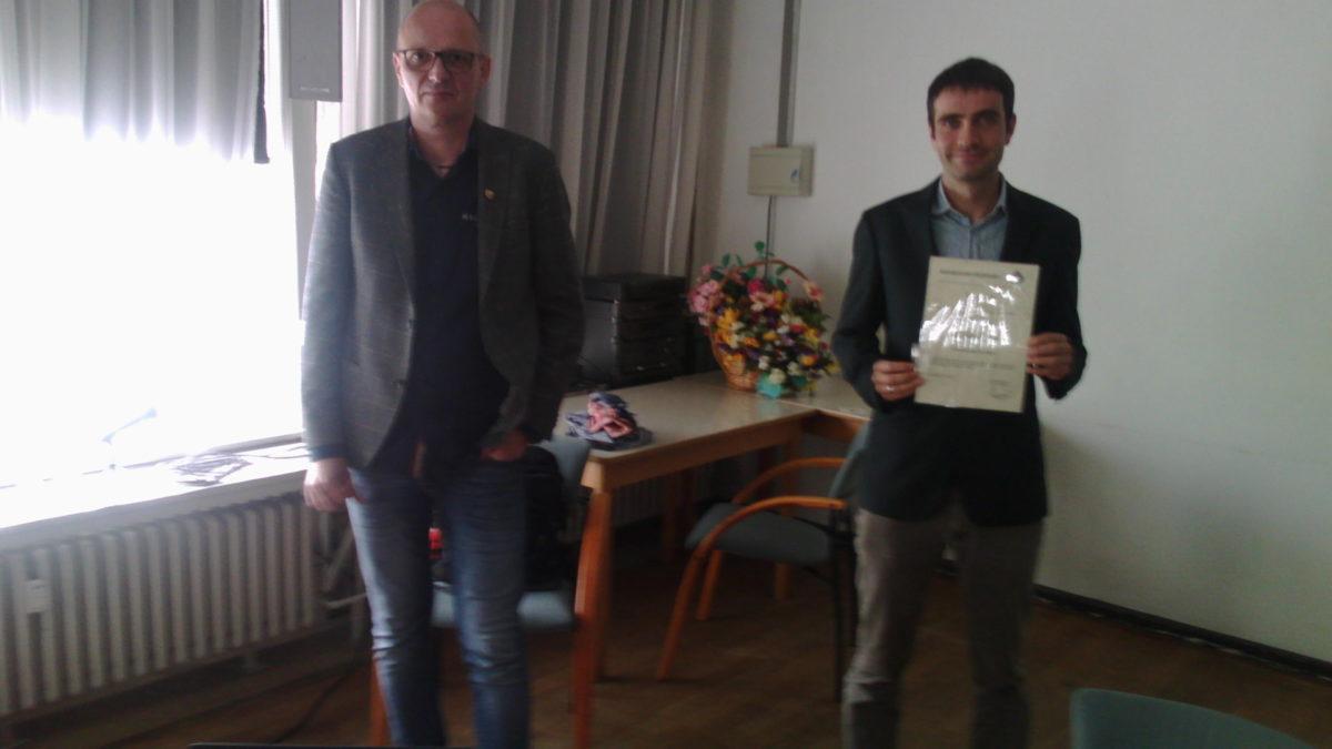 Bezirks-VV  LIVE  Ehrung für Christoph Dahmen