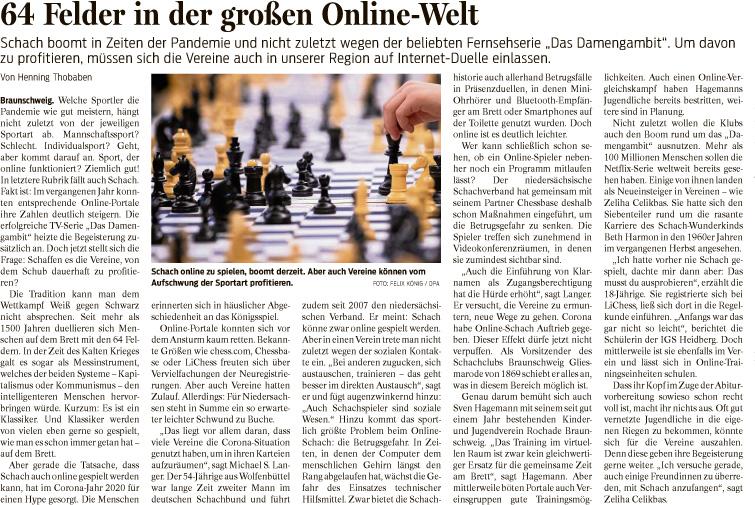 BZ berichtet über Schach